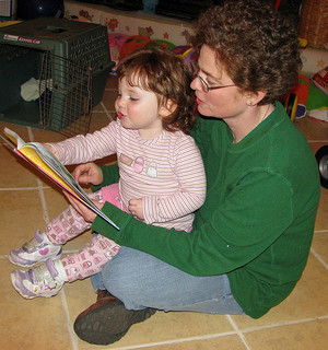 Her favorite book will probably change as she gets older! Photo: Natalie Maynor, CC BY 2.0