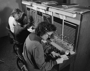 What was so bad about good old wired connections, anyway? Photo: Library of the London School of Economics and Political Science, public domain